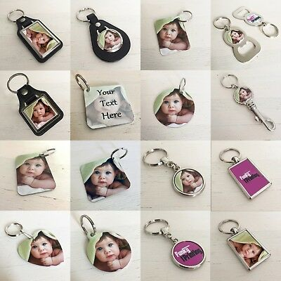 Logo Double Photo Frame (Personalised Photo Key Ring, Double Sided, Custom Gift,Any Image Logo Text)