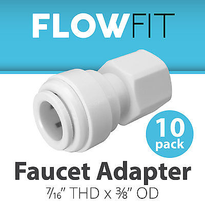 Express Water 10-Pack Faucet Adapter 3/8 x 7/16 Quick Connect RO System Fitting