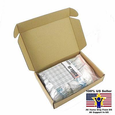 100value 500pcs 2w Metal Film Resistor -1 Assortment Kit Us Seller Kitb0141