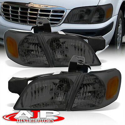 Smoked Headlights + Amber Corner Signal Lamps For 1997-2005 Venture Silhouette