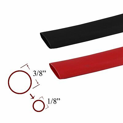 5feeteach 38 Redblack 31 Heat Shrink Tube Sleeve Electric Wire Cable Wrap
