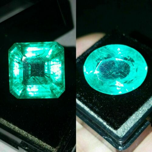 Loose Gemstone 8 to 10 cts Natural Emerald Mixed Shape Certified Pair