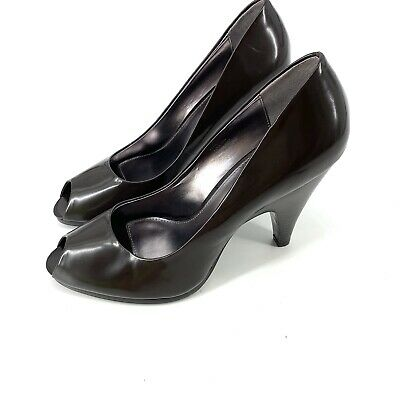 Calvin Klein Fern Women Peep Toe Heels Shoes Sz 8.5M