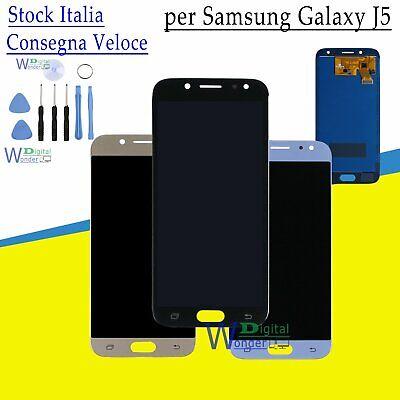 Display LCD Touch Screen per Samsung Galaxy J5 J530F 2017 Nero Oro Blu Monitor