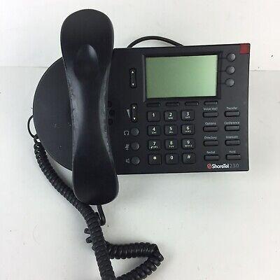 Shortel 230 Voip Business Office Speakerphone Ip Display Phone Sev Black