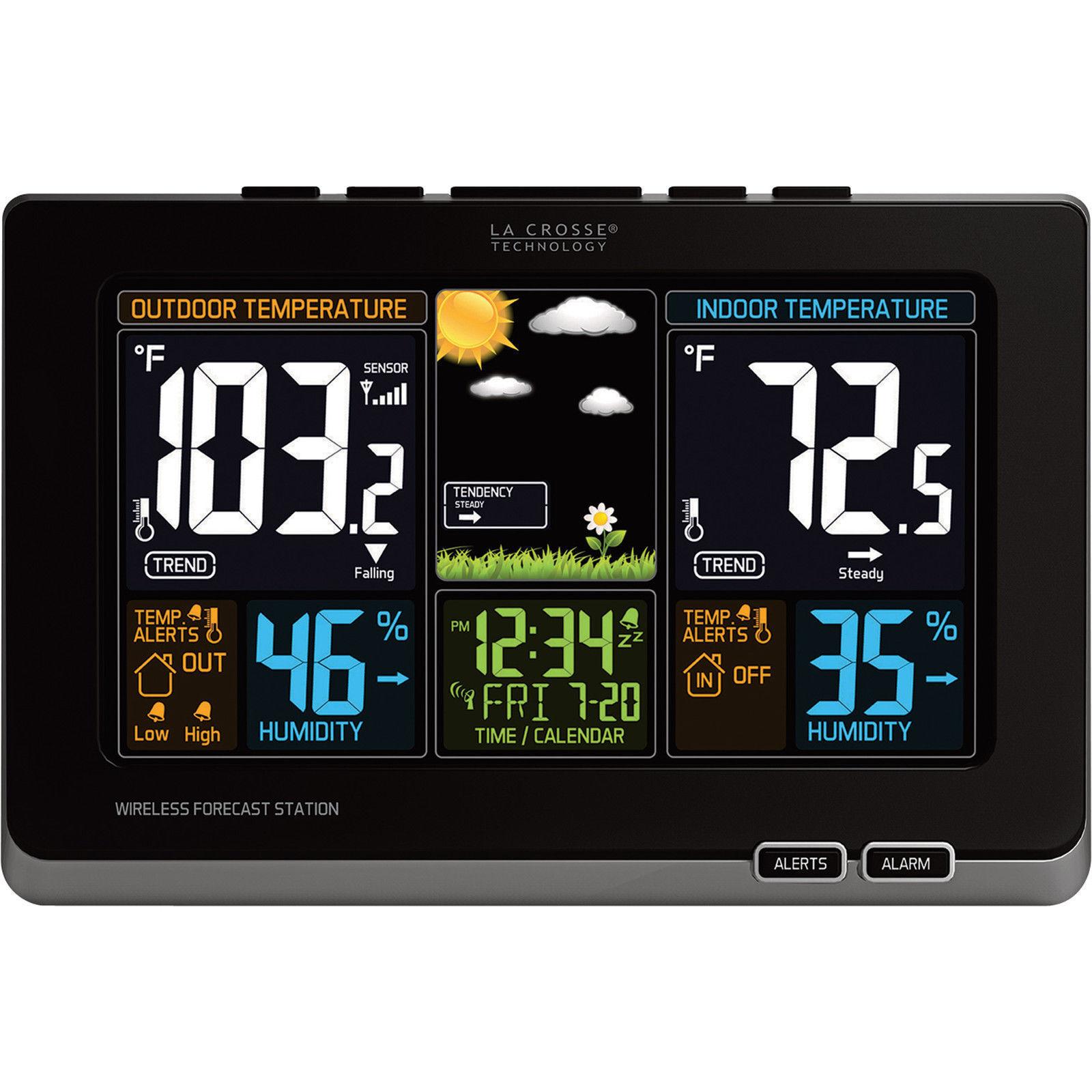 Original La Crosse Technology 308-1414B Wireless Color Forecast Sensor Only