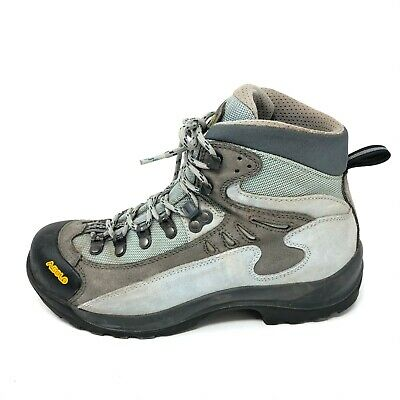 Asolo Womens 6.5 FUSION Heavy Duty Hiking Boots Blue Grey  Grey Hiking Boots