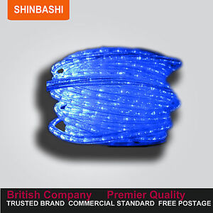 PREMIER-157FT-Clear-Blue-LED-Ribbon-Strips-Rope-Lights-FULL-SET-UK-Warranty