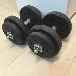 2xDumbbells weights 2x7.5kg