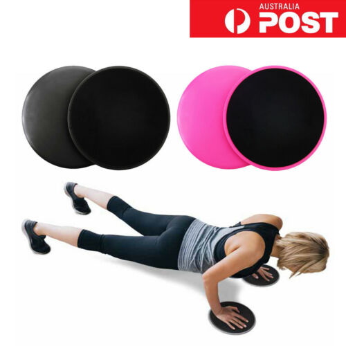 4x Gliding Sliding Discs Core Sliders Gym Yoga Fitness Exercise Workout Training