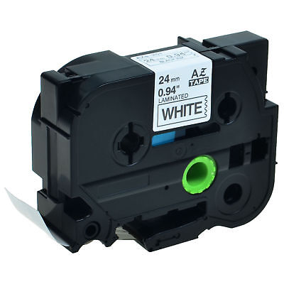 1pk Tz-251 Tze-251 Black On White Label Tape For Brother P-touch Pt-p750w 24mm
