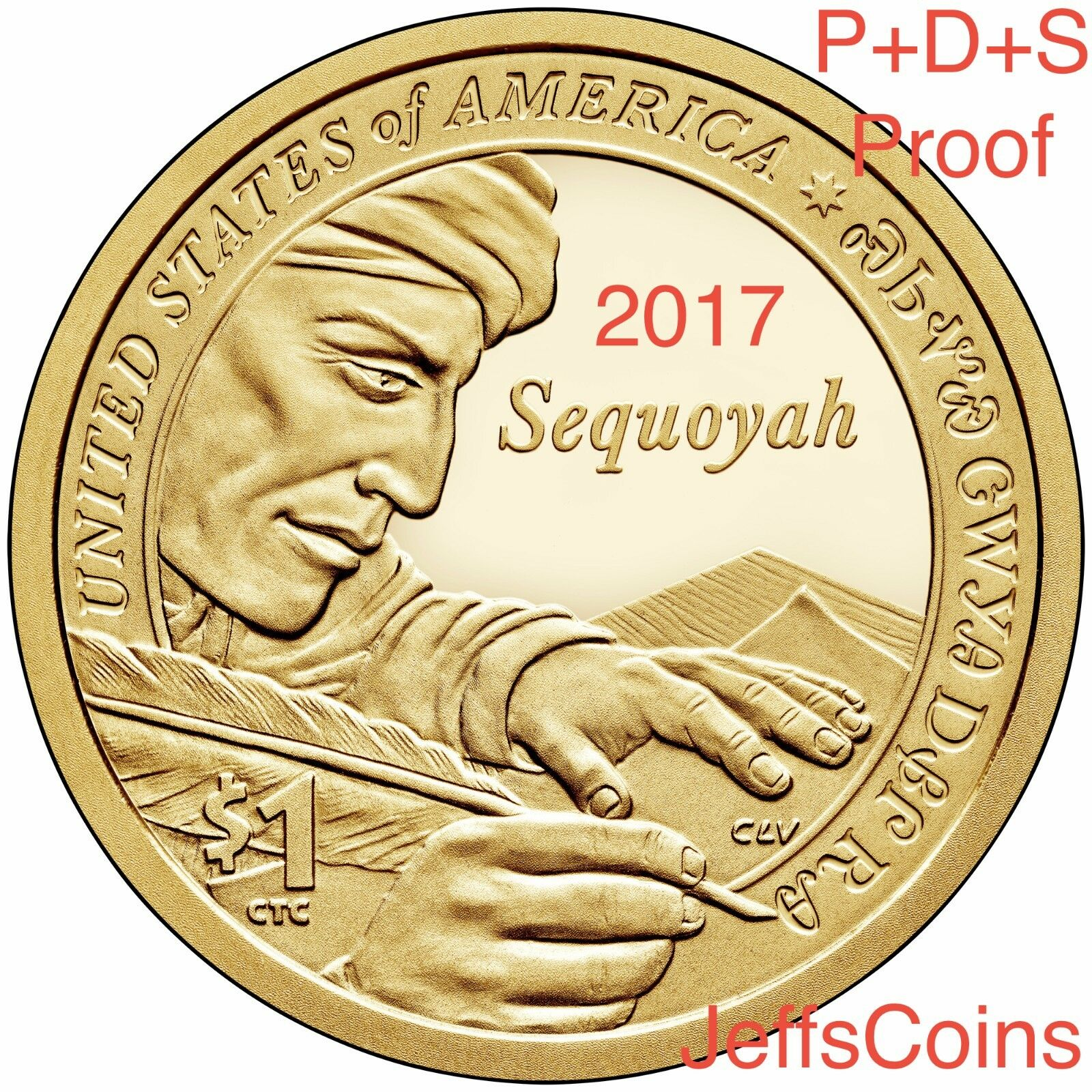 2018 PDSS Proof /& REVERSE Native American Sacagawea Coins New Golden Dollars P D