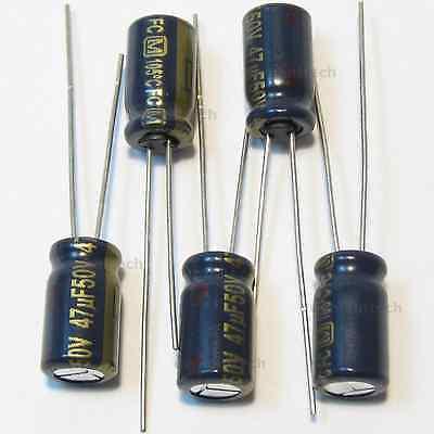 12 pc LONG LIFE 47uf 50v electrolytic105C Rubicon caps LOW ESR