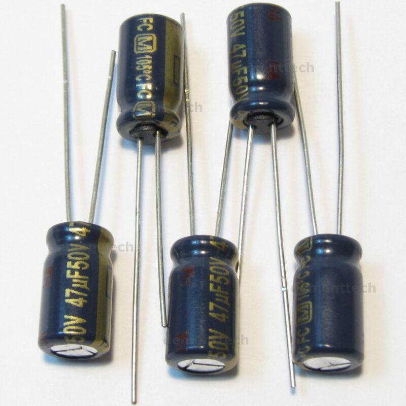 4pcs JAPAN Panasonic FM 47uf 25v 47mfd Low ESR Impedance Electrolytic Capacitors