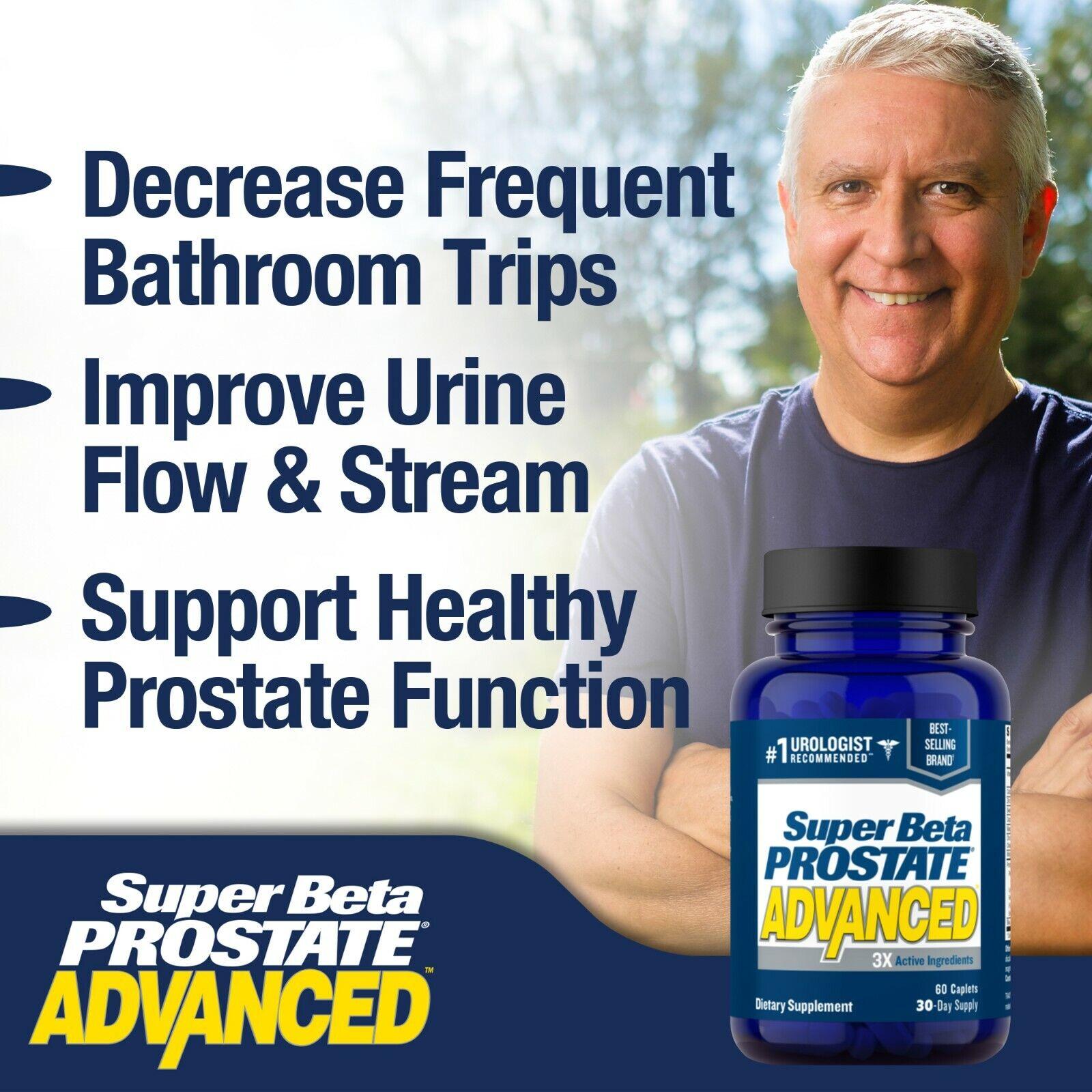 Super Beta Prostate Advanced - Prostate Supplement - Brand New - Free S&H 2