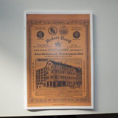 Firmenkatalog - Robert Barth Stuttgart um 1900 - Reprint