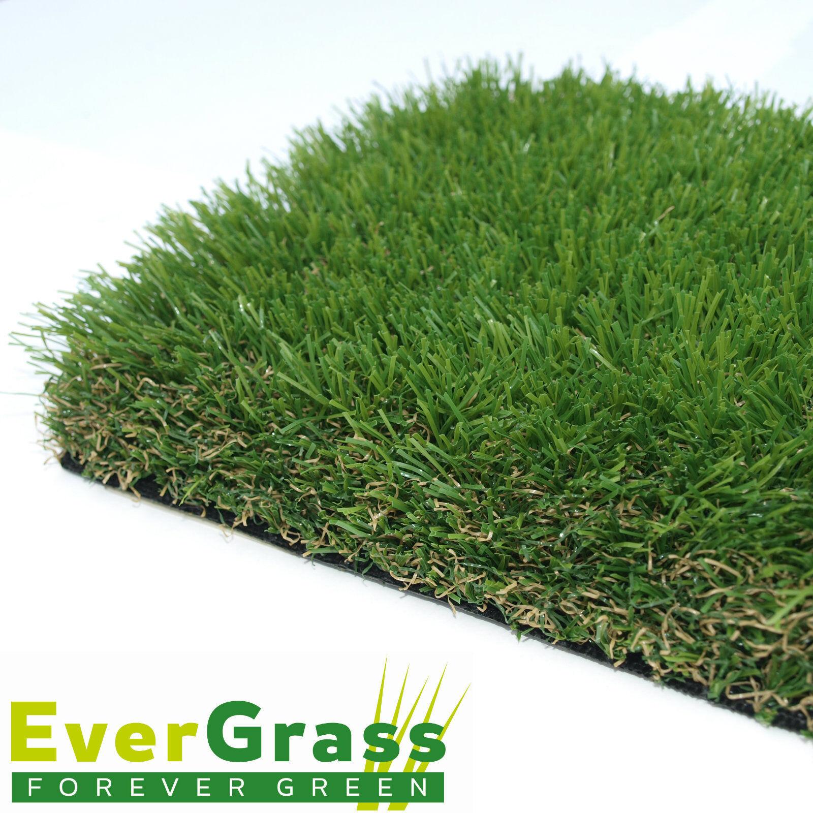 St Lucia 40mm Artificial Grass 4m x 4m Garden Turf Lawn Astro Green Fake Plastic