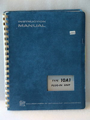 Tektronix 10a1 Plug In Unit For 647 Oscope Instruction Maintenance Manual