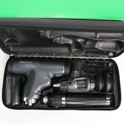 Welch Allyn 3.5v Diagnostic Set Panoptic Opthalmoscope Macroview Otoscope Case