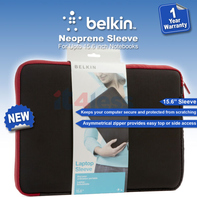 "Belkin 15.6"" Laptop Notebook Protective Sleeve Cover Jet/Cabernet F8N160eaBR NEW"