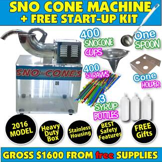 GREAT Sno Cone machines to buy.  Why HIRE when OWN for $570