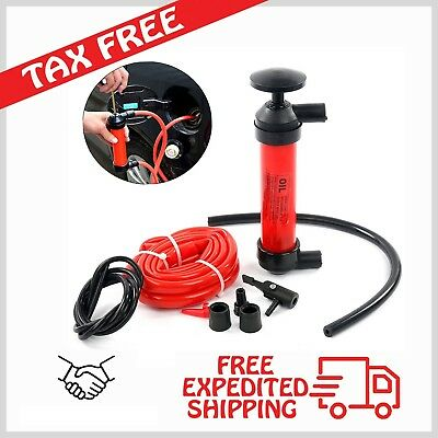 Siphon Pump Gas Oil Water Transfer Fuel Fluid Syphon Liquid Air Manual Hand Kit