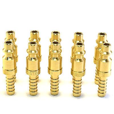 10 14 Brass Hose Barb Stem Pneumatic Air Compressor Quick Connect Fitting Plug