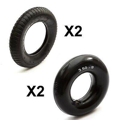 2 Wheelbarrow Tyre Innertube 3.50-8 Sack Truck 350-8 Wheel Barrow 350/8 Trailer