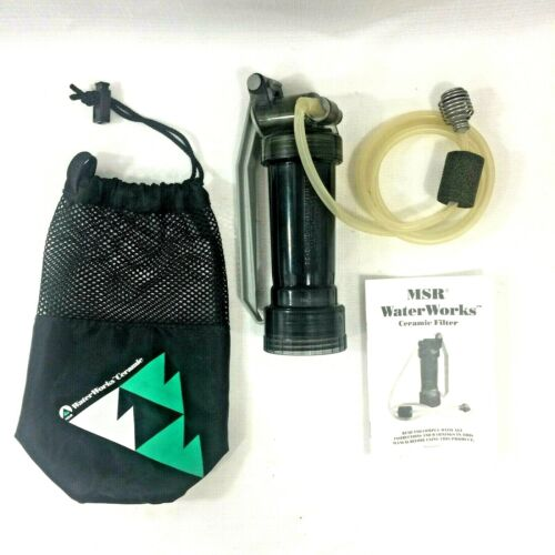 MSR WaterWorks Ceramic Water Filter Bag Instructions Backpacking Camping