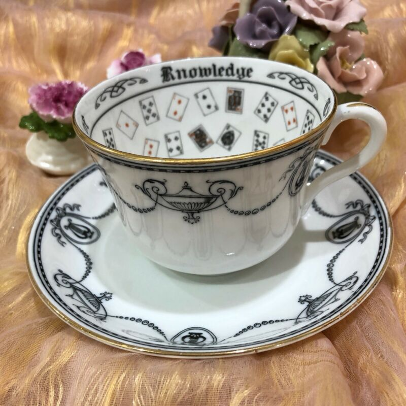 Cup Of Knowledge Fortune Telling Gypsy Cup And Saucer Grosvenor England