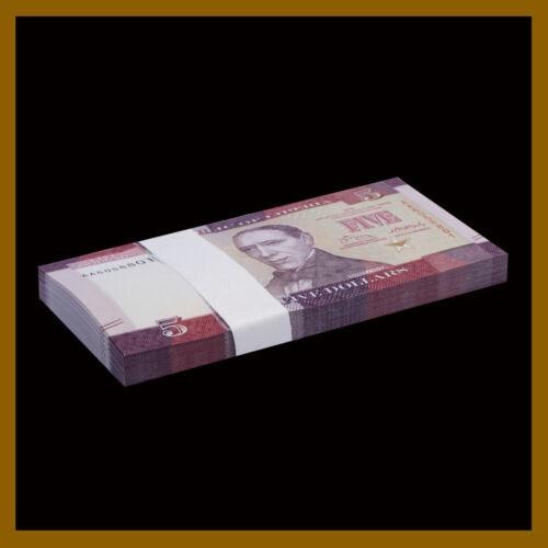 Liberia 5 Dollars x 25 Pcs, 2016 P-31 New Design Unc