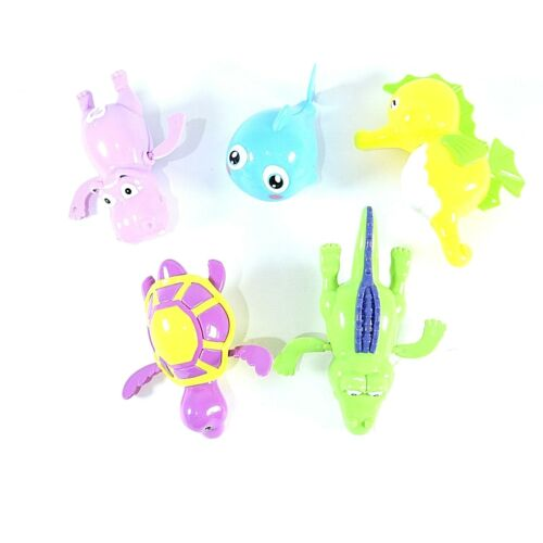 5 Pack Wind Up Swimming Bathtub Toys