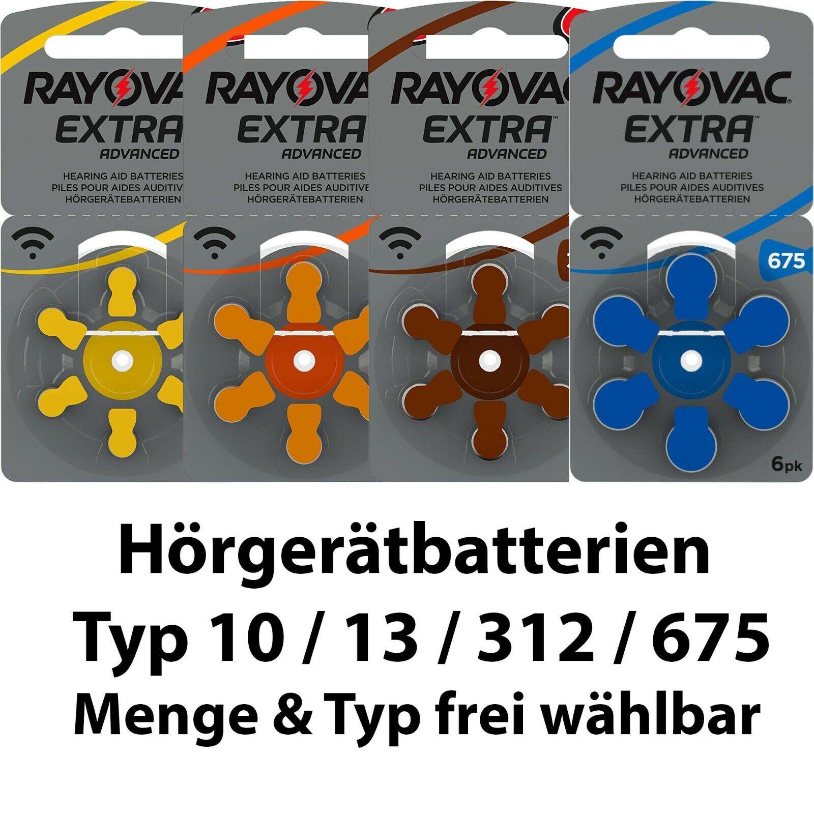 Rayovac Advanced Hörgerätbatterien - Typ 10 13 312 675 1,55 V - Menge wählbar
