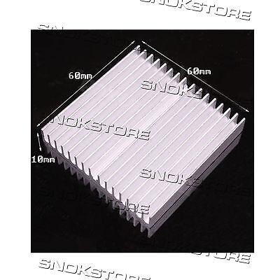 1pc 60x60x10mm HEAT SINK ALUMINUM for CHIP CPU DISSIPATORE LED AQUARIUS heatsink usato  Andria
