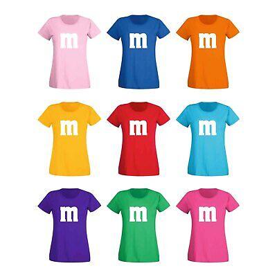 T-Shirt M&M Schoko-Linse Gruppenkostüm Karneval Fasching 15 Farben Damen - Weibliche Übergröße Kostüm