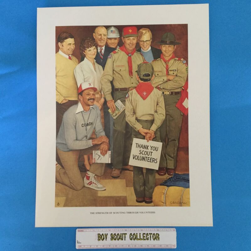 "Boy Scout Joseph Csatari Print 11""x14"" The Strength Of Scouting"