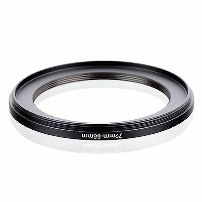 72mm-55mm 72-55 mm 72 to 55 Step Down Ring Filter Adapter