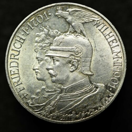 1901 GERMANY 2 MARK SILVER COIN