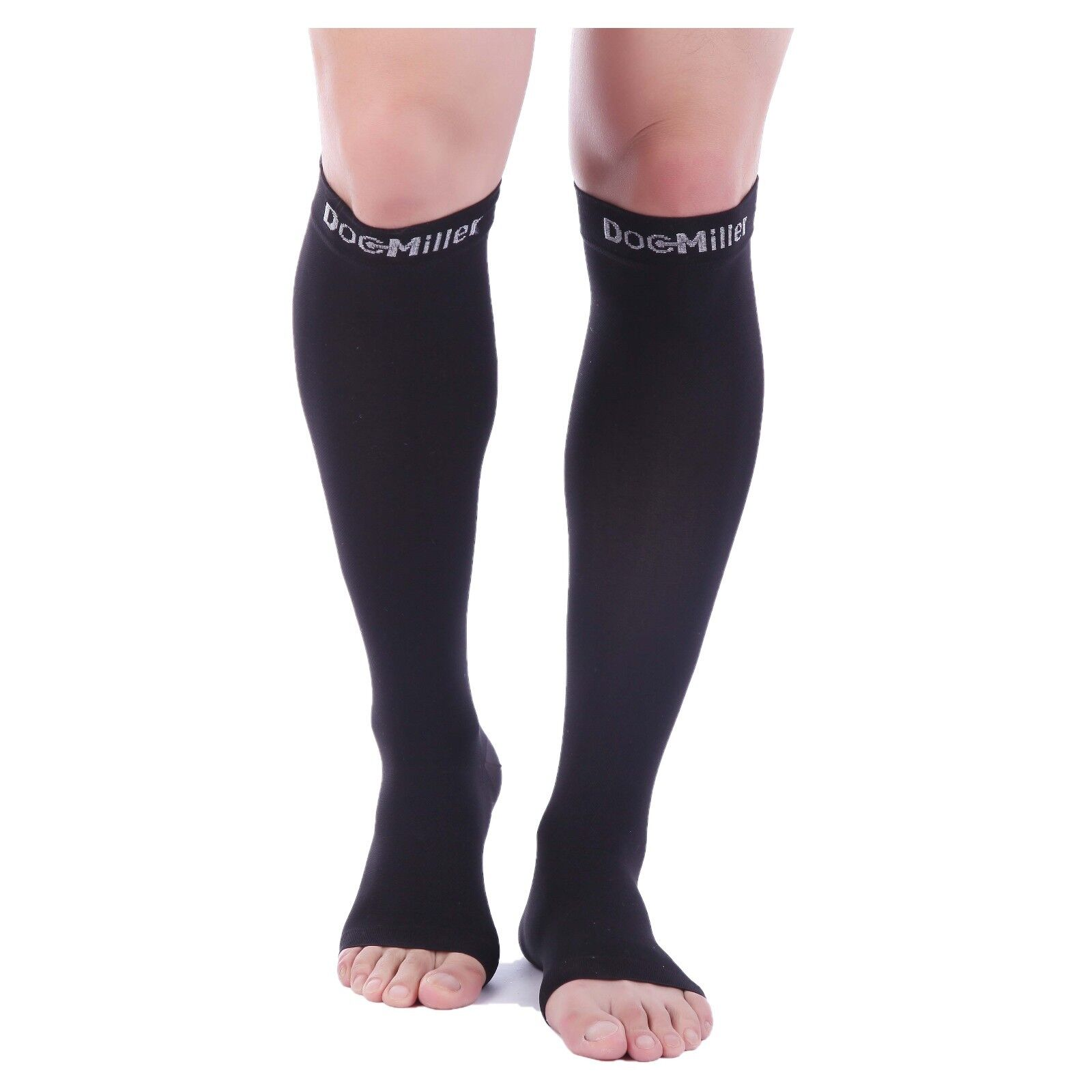cb9ecf1a2cd Details about Doc Miller Open Toe Compression Sleeve 30-40 mmHg Varicose  Veins BLACK