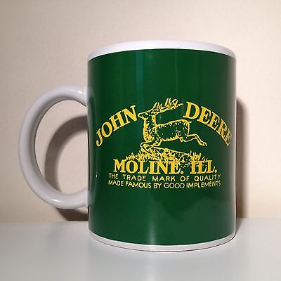 John Deere Licensed Coffee Cup Mug Gibson Green Yellow