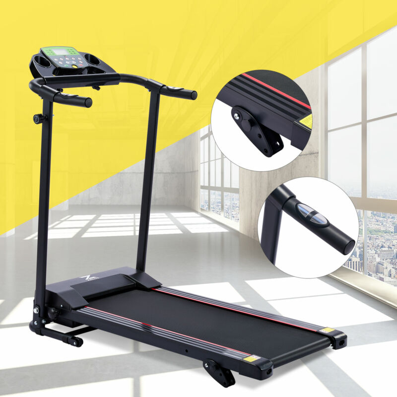 Folding Treadmill with Incline for Home Gyms 6.2mph 750W Motor Bluetooth & More