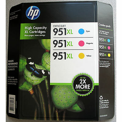 3-PACK HP GENUINE 951XL Color Ink (RETAIL BOX) for OFFICEJET PRO 8600 8610 8615