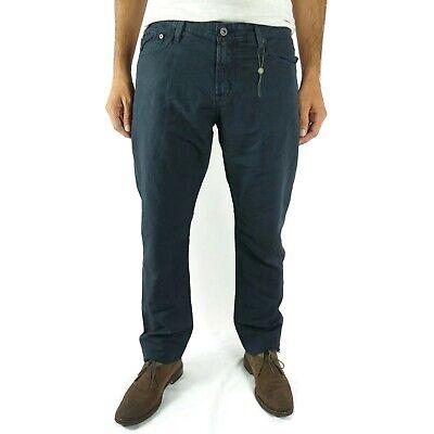 AG Adriano Goldschmied Mens Pants Size 34 Graduate Tailored Leg Blue Linen Blend Tailored Mens Pants