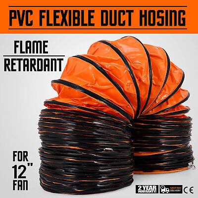 25 Duct Hose 12d Flexible Ventilator Dryer Air Mover Suction Transport