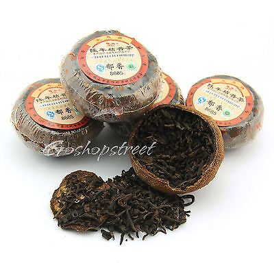 100g Gold Horse 8685 orange peel ChenPi puer Puerh Stuffed Tagerine Tea Ripe Gold Pur Tee
