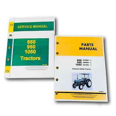 Service Parts Manual Set For John Deere 850 950 1050 Tractor Owners Repair Shop