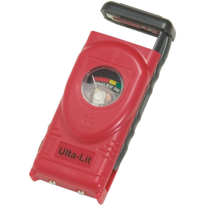 Ulta Lit Battery Tester, Use with C D AAA AA 9V N and Button Cell Batteries
