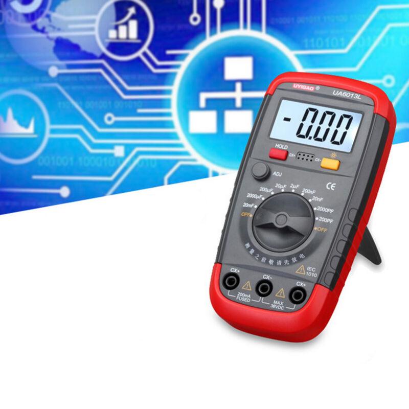 UA6013L Auto Range Digital LCD Capacitor Capacitance Tester Meter Multimeter US