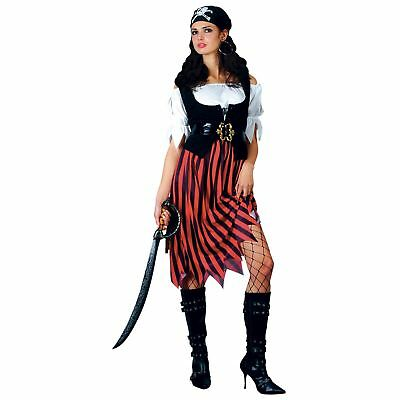 Pirate Lady Shipmate Island Fantasy Captain Adults Womens Fancy Dress Costume](Fantasy Island Halloween)