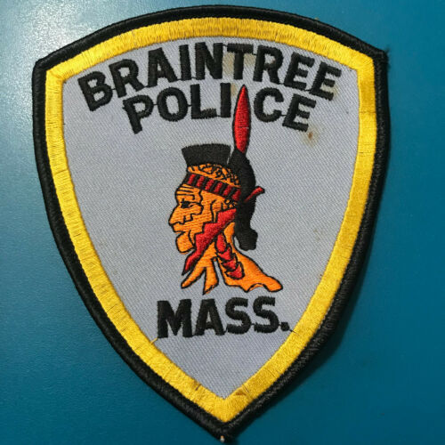 Braintree Police Norfolk County Massachusetts MA Indian Indianhead Patch